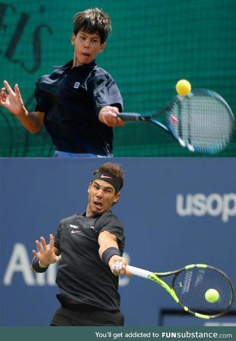 Rafael Nadal - 2002 vs 2019