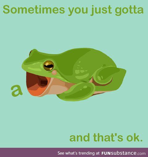 Froggo Fun #350 - This Speaks to Me