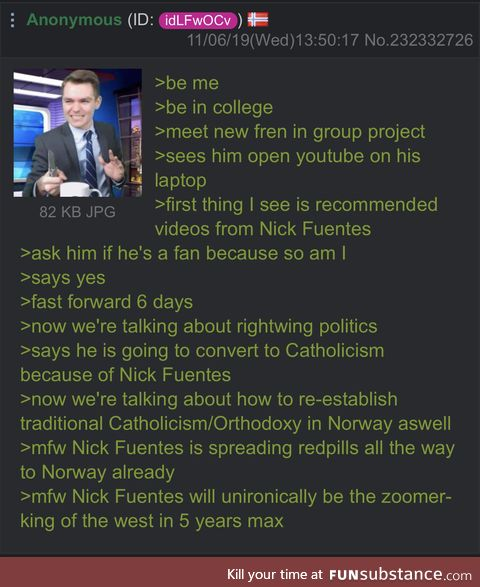 Anon finds the zoomer king