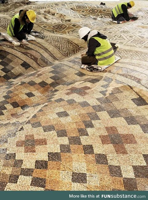 Restoring a mosaic rippled by earthquakes in Turkey