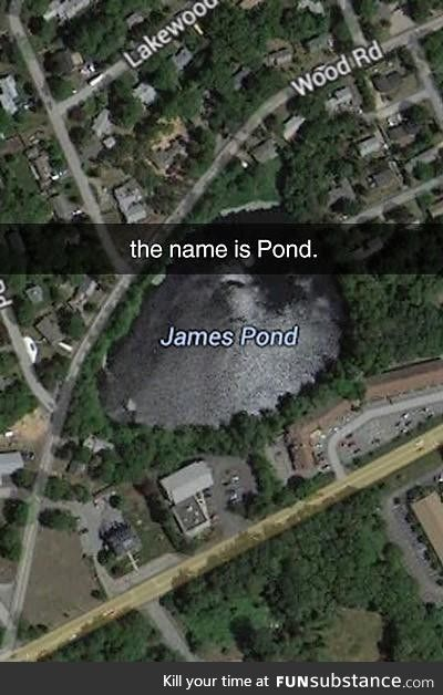 The name is Pond