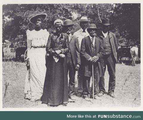 The Juneteenth Emancipation Day celebration, taken on June 19, 1900 in Texas
