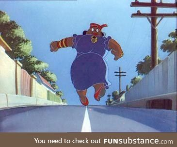 If you were wondering who she is, she is the woman in Tom and Jerry