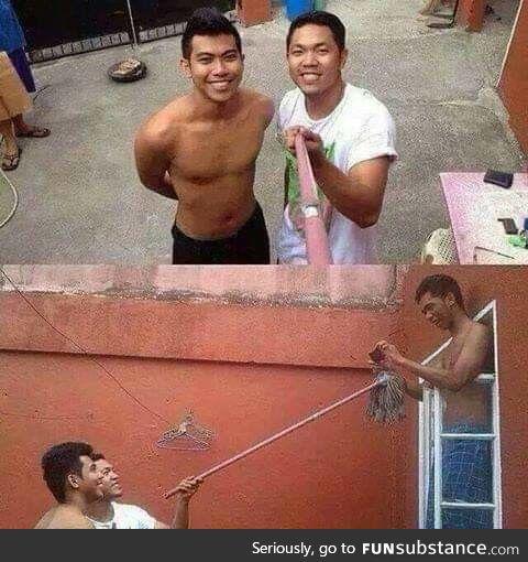 Selfie stick. ????????????