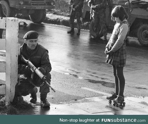 Just out for a skate, North Ireland, circa 1972