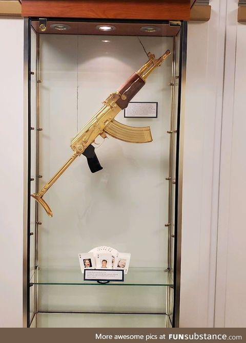 Saddam Hussein's gold AK47, allegedly
