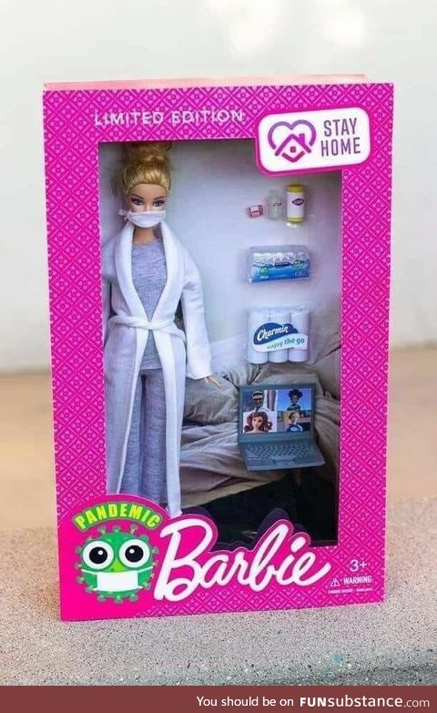 """Pandemic barbie could be called """"Netflix and Chill barbie"""""""