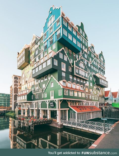 This hotel in Netherlands looks like a Lego house
