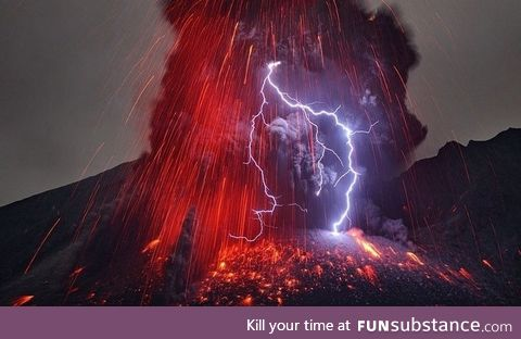 "Volcanic lightning aka ""dirty thunderstorms"""