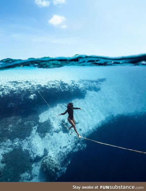 Underwater funambulism, anyone?