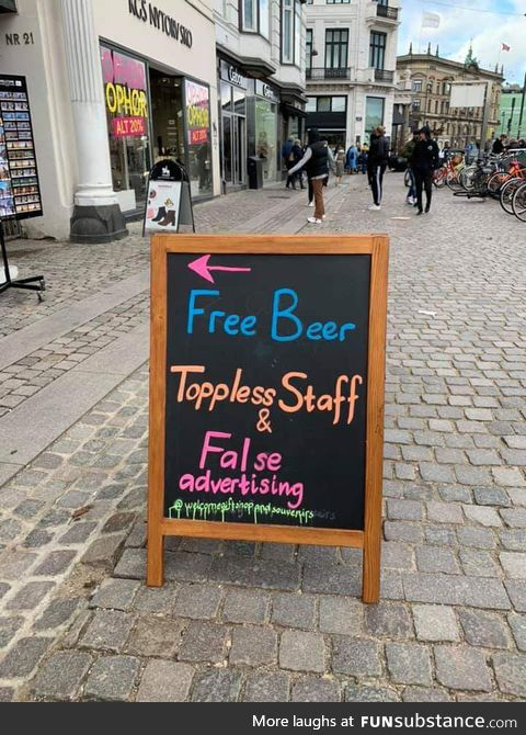 This honest untruthful sign