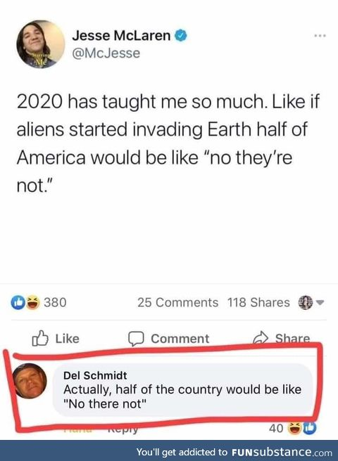 Nice one, Del
