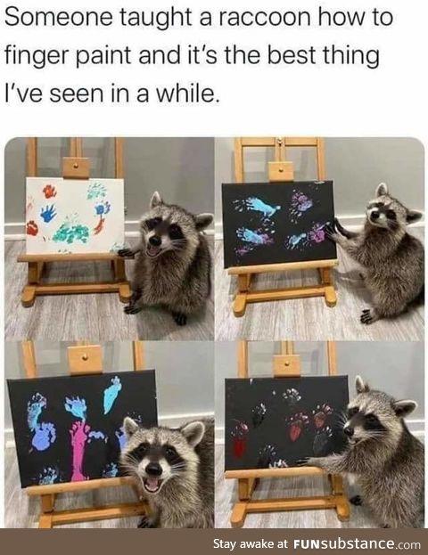 Raccoon city art gallery