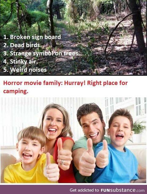 Every horror movie family: