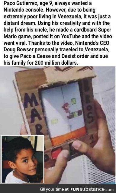 Nintendo, y u gotta be like that :(