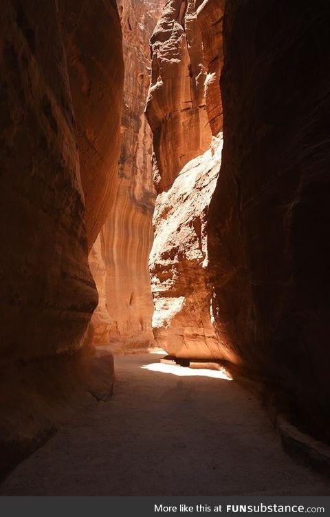 Walking through Petra