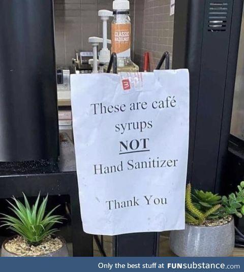 Forbidden hand sanitizer