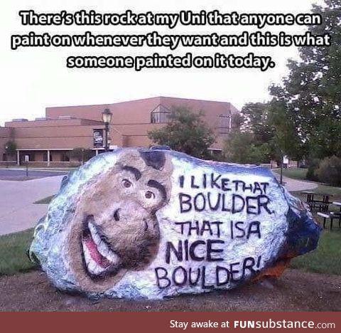 It is not a rock, it's a boulder