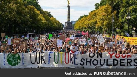 We all love Area 51 memes, but this is 270.000 people on the streets of Berlin protesting