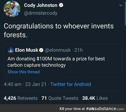 """Or the """"let's leave the ***ing oil in the ground"""" technology"""