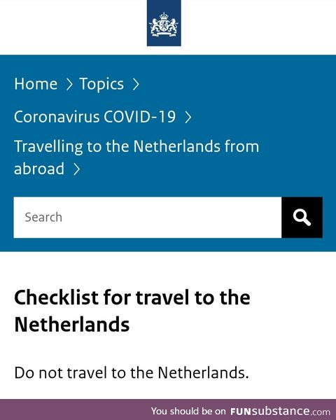 Travel requirements 2021