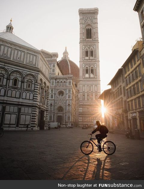 Morning rides in Florence