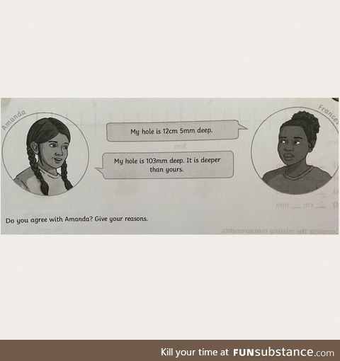 This primary school homework assignment