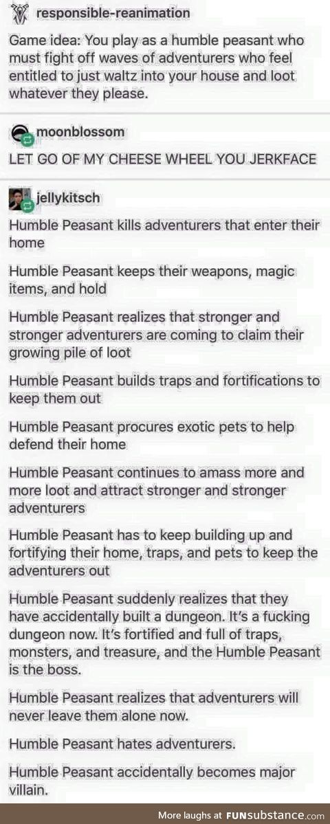 The humble peasant - an origin story