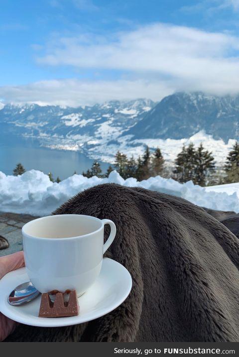 Coffee break in Switzerland