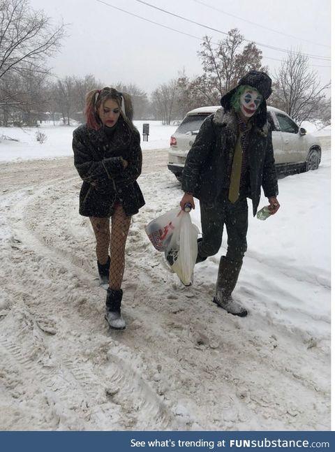 Joker and Harley Quinn in Volgograd