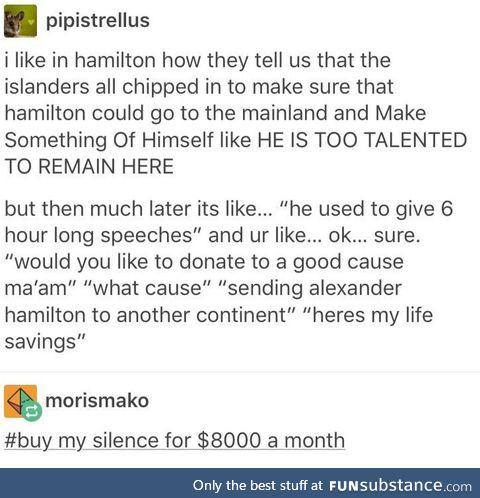 Hamilton was silenced