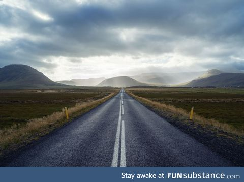 Open road, iceland