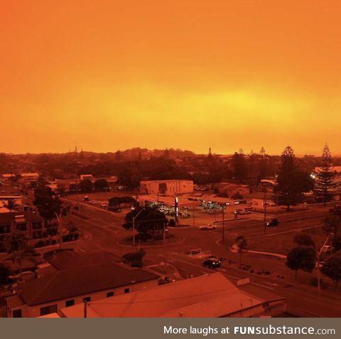 Port Macquarie, NSW during a bushfire