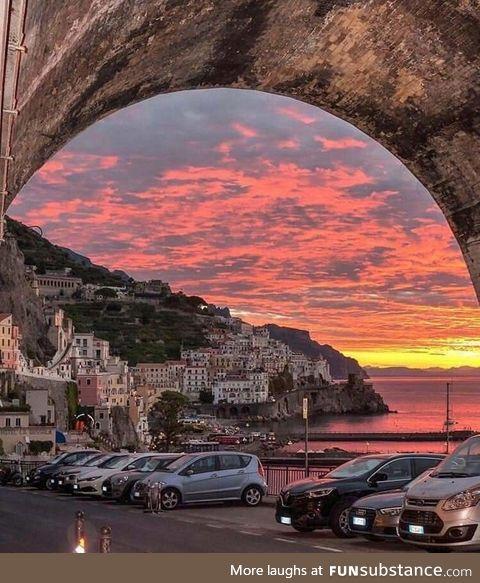 Sunset on the Amalfi Coast, Italy