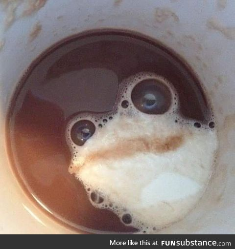Frothy frog coffee