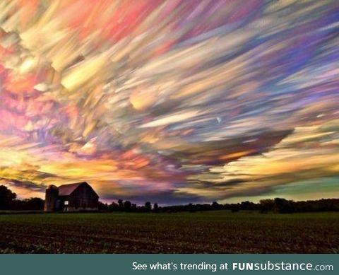 Timelapse photo of hundreds of sunsets