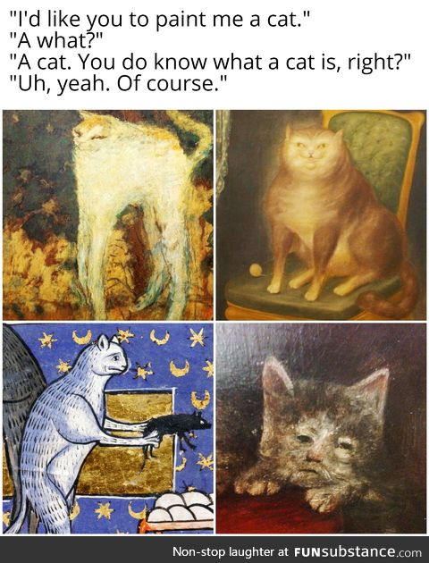 Medieval artists never saw gato IRL
