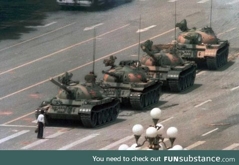 Today marks the 30th anniversary of the Tienammen square protest. Let's show the Chinese