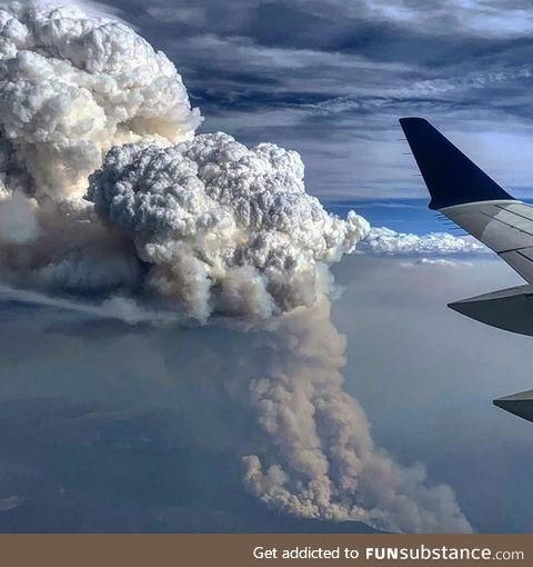 Wildfires in Colorado from 30,000 feet