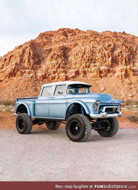 Custom 1957 Chevy crewcab