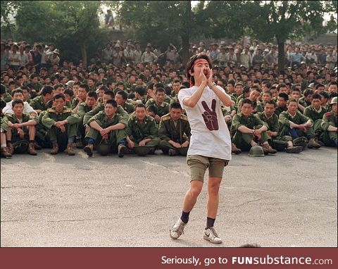 Student protests alone in 1989 Tianmensquare Protests