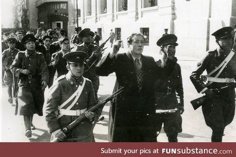 Chilean Nazis on their way to execution (Seguro Obrero Massacre, 1938)