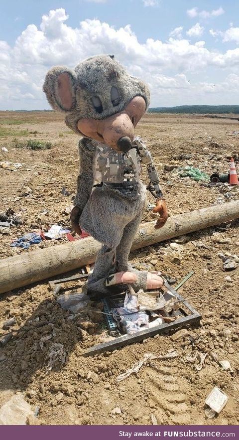 Chuck E. Cheese found in a landfill