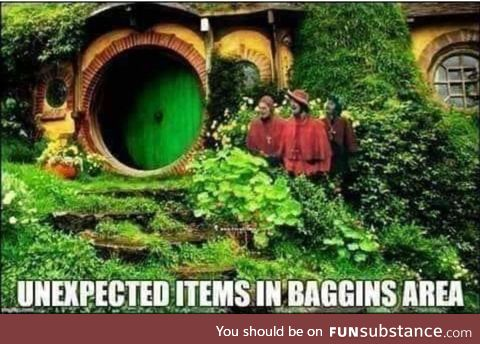 Frodo, I don't think we're in the shire anymore ..