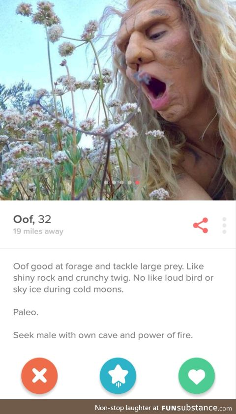 She's in full cave woman make-up in every picture, sadly I didn't match