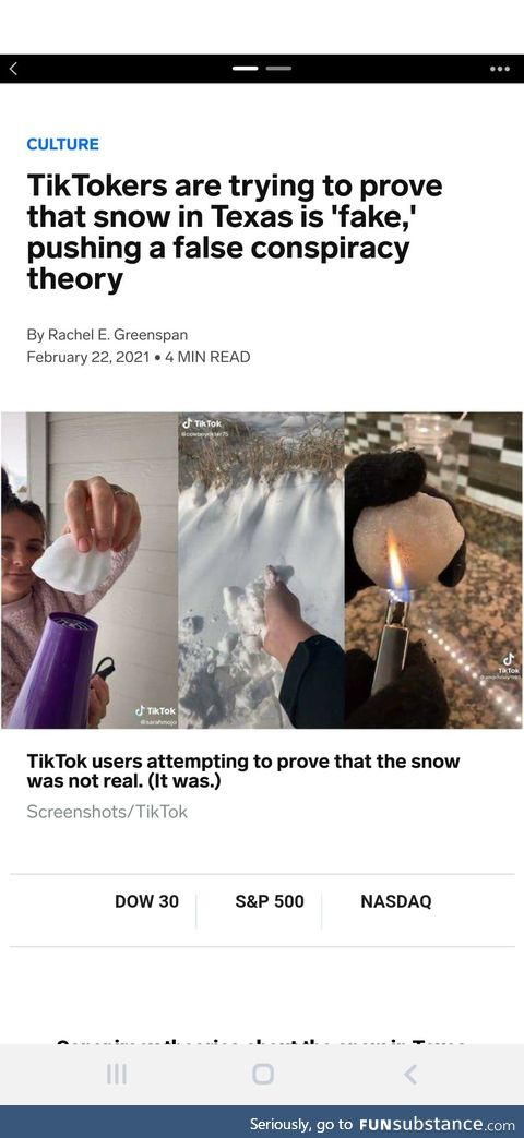 Snow is fake!