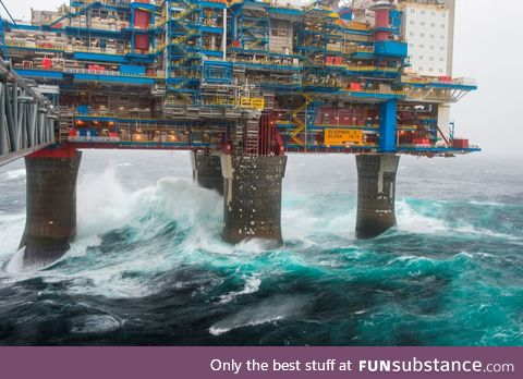 Sleipner A is an oil production and processing offshore platform in North Sea, Norway