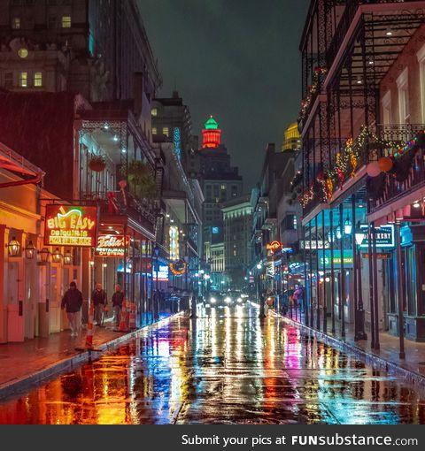 Bourbon Street in New Orleans [OC]
