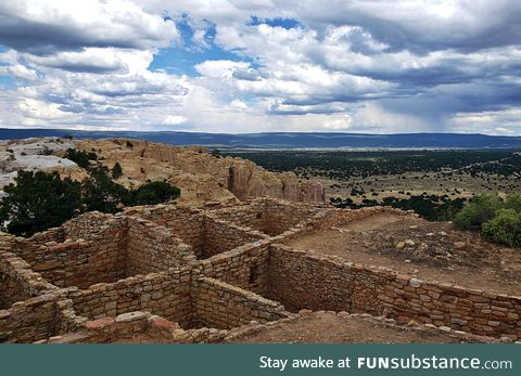 The ruins of Atsinna Pueblo in current day New Mexico. Occupied roughly from 1275 to 1400