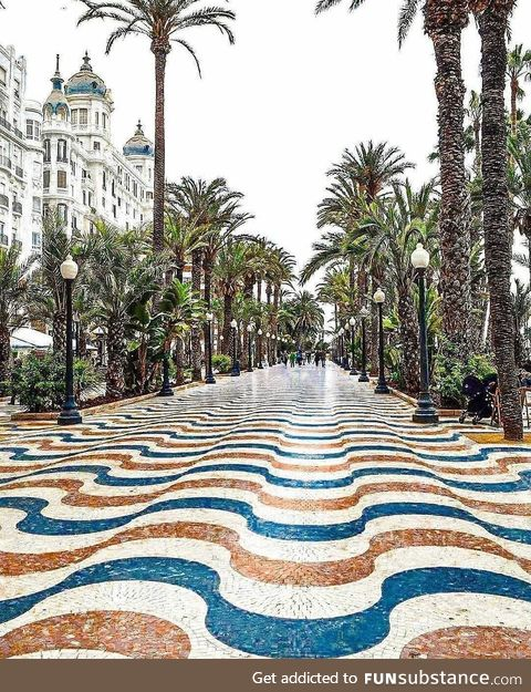 This street in Alicante, Spain